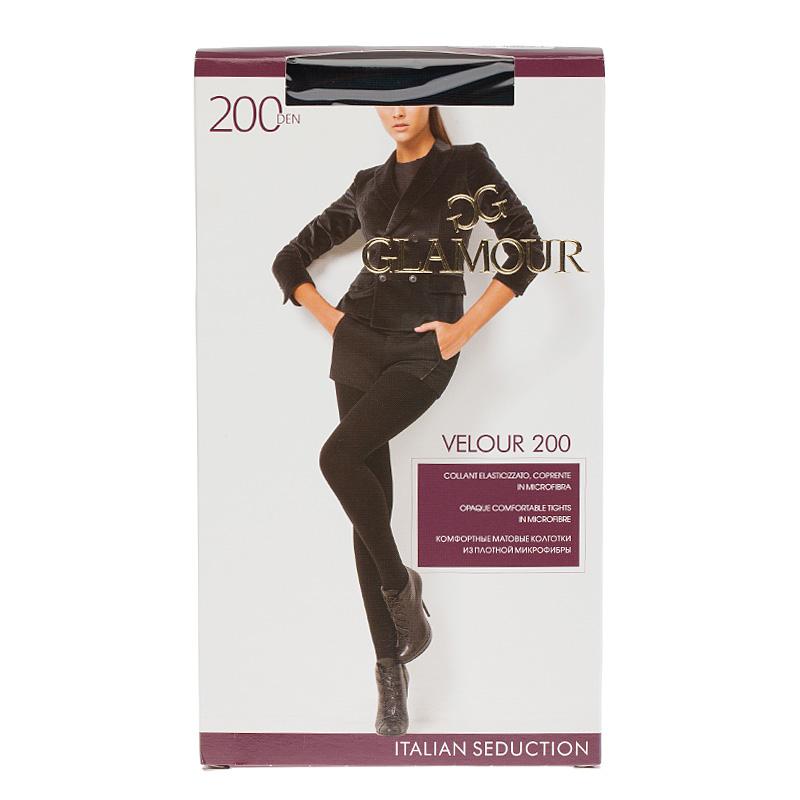 Колготки GLAMOUR, Velour колготки glamour velour 5 70 den черный