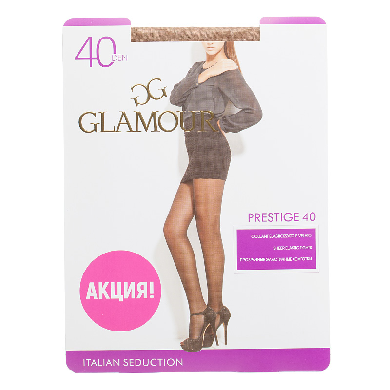 Колготки GLAMOUR, Prestige 40 miele колготки glamour prestige 40 daino