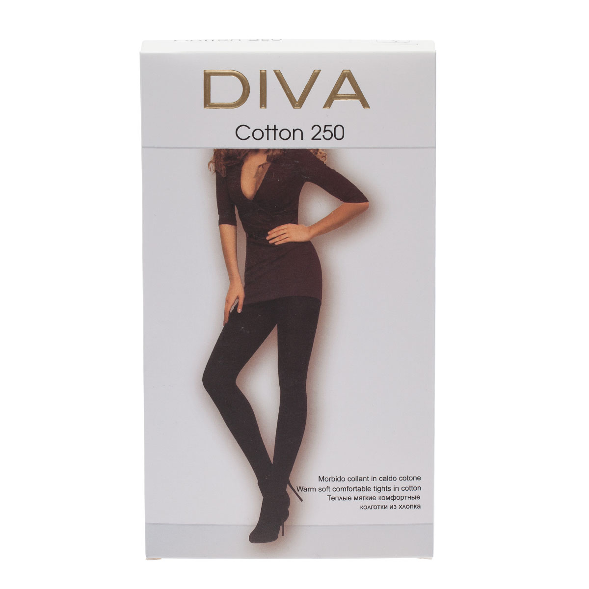 Колготки DIVA Cotton250, 5 бусы art silver цвет черный смц70 5 1132