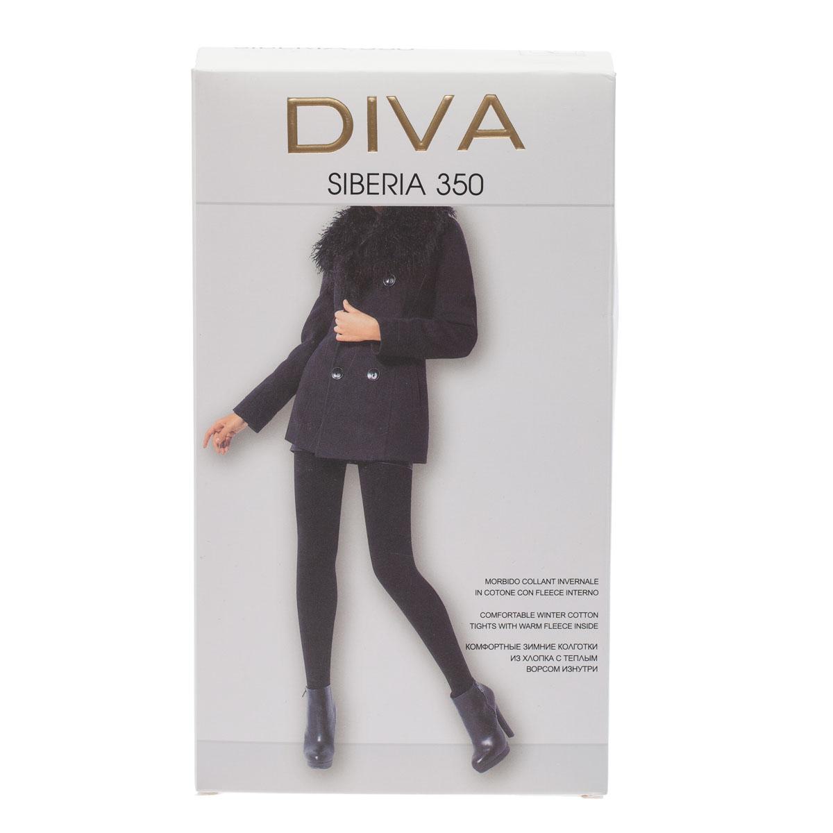 Колготки DIVA Siberia 350, 5 бусы art silver цвет черный смц70 5 1132