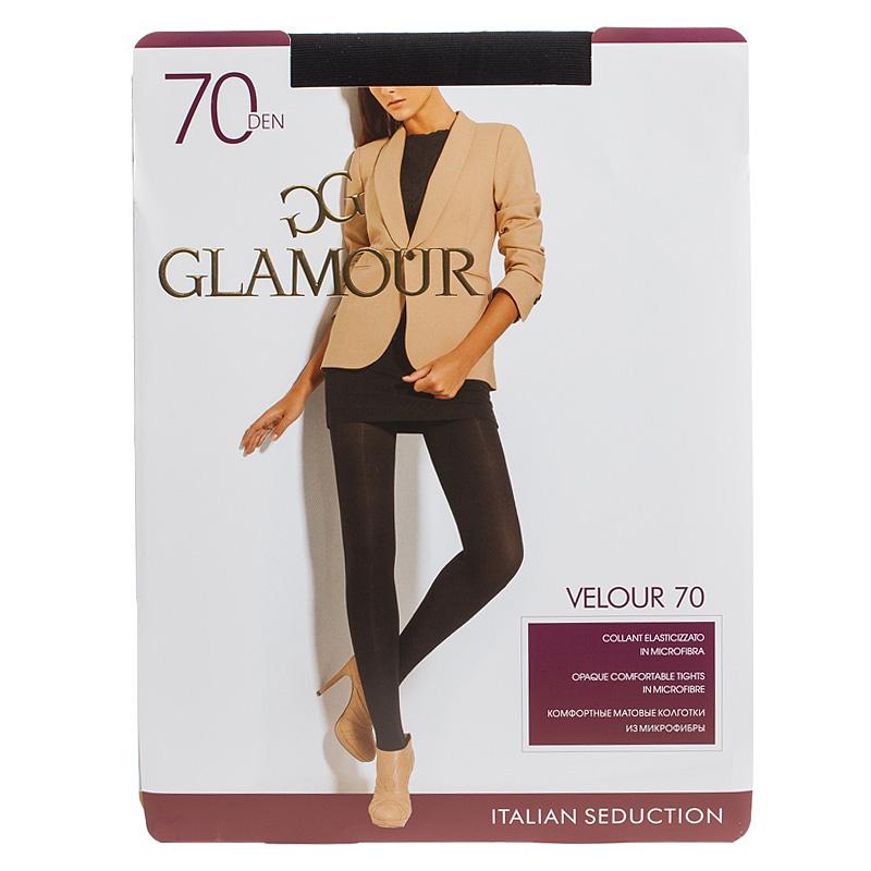 Колготки GLAMOUR Velour, 70 колготки glamour velour 2 70 den черный