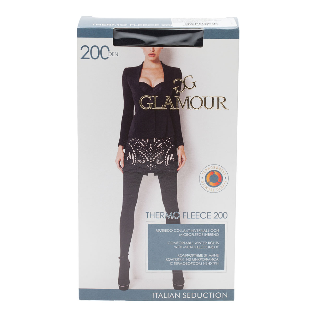 Колготки GLAMOUR, ThermoFleece200ner колготки glamour thermofleece200ner